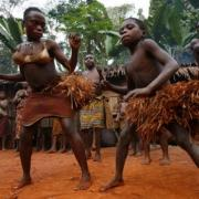 Pygmy tribe africa central african republic dancers